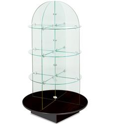 Rotating Glass Display Case