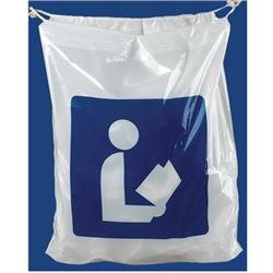 Brodart Library Logo Plastic Book Bag