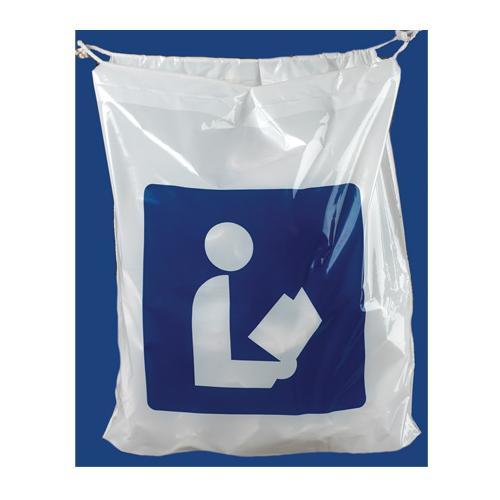 Brodart Library Logo Plastic Book Bag Zoom