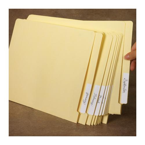 Legal-Size Vertical Reinforced End Tab File Folders