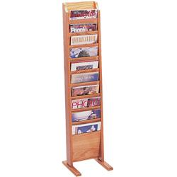 Wooden Mallet Freestanding Single-Sided 10-Magazine Displayer