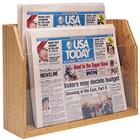 Image of Wooden Mallet Countertop Newspaper Stand