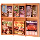 Image of Wooden Mallet 6-Magazine/12-Brochure Wall Mount Displayer