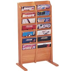 Wooden Mallet Freestanding Single-Sided 14-Magazine Displayer