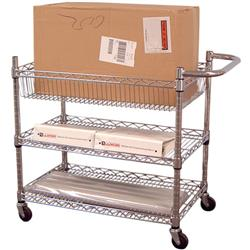 "Luxor® 30""W Chrome Wire Tub Cart"
