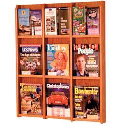 Wooden Mallet 9-Magazine/18-Brochure Wall Mount Displayer