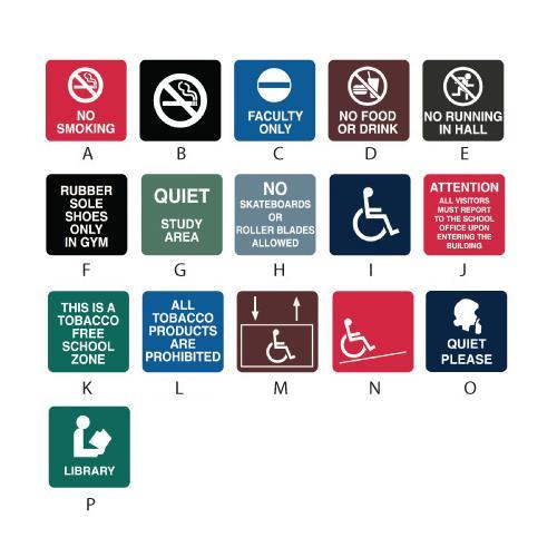 Intersign General Information Signs