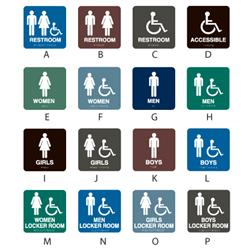 Intersign Standard Restroom/Locker Room Signs