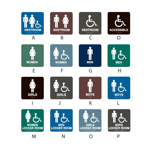 Intersign Standard Restroom Locker Room Signs