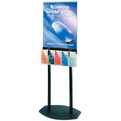 Literature Pocket Attachment for Contemporary Double-Sided Poster Stand