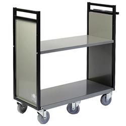 "Gryphon 32""W Steel Book Truck with Two Flat Shelves"