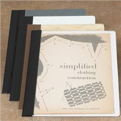 Brodart One-Piece Archival-Quality Single-Stitched Clear Front Pamphlet Binders