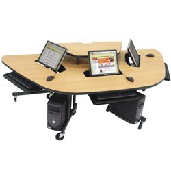 Paragon Flat Panel Recessed Monitor Workstation with Riser
