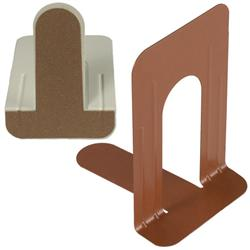 Brodart Standard-Size All-Purpose Metal Book Supports with Rubber Cork Base
