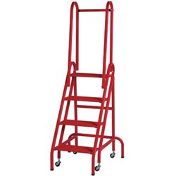 Roll-Stair Aluminum Four-Step Platform Ladder