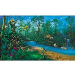 Environmental Graphics Jungle Dreams Wall Mural