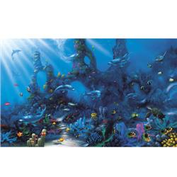 Environmental Graphics Dolphins' Paradise Wall Mural