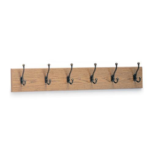 Safco Wall Mounted Six Hook Wood Coat Rack