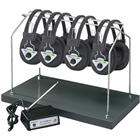Image of Hamilton/Buhl™ Multi-Channel Wireless System with Four Headsets and Rack