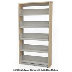 Horizon Double-Faced Steel Starter Shelving with Laminate End Panels and Flat Shelves