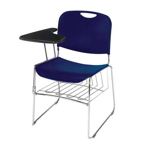 National Public Seating Book Rack for Hi-Tech Stacking Chairs