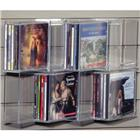 Image of Acrylic Slatwall Zigzag Shelf with Four CD/Four Media Pockets