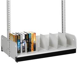 Estey Double-Faced Steel Divider Base Shelf