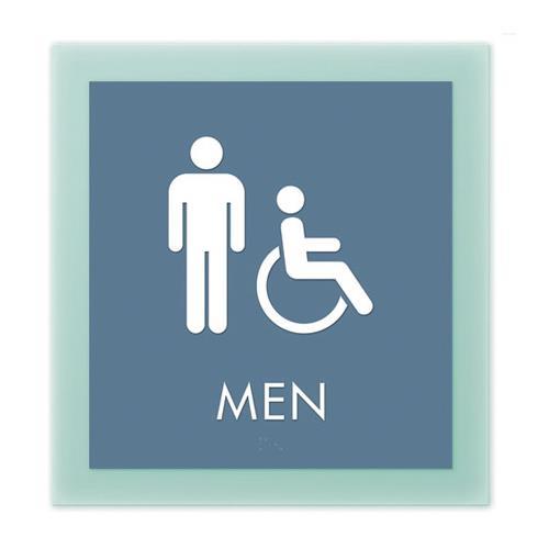 ADA Signs Floating Glass Floating Glass Men S Restroom