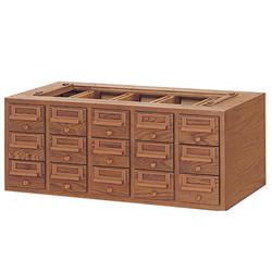 Brodart 15-Tray Unit for Card Catalog Sectional Cabinet
