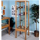 "Image of Brodart 24""W Vertical Oak Exhibit Case"