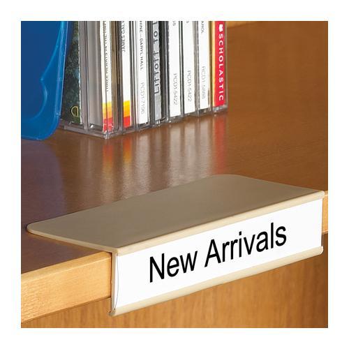 clip on shelf label holder rh shopbrodart com label holders for wooden shelves brass label holders for wood shelves