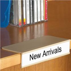 blank labels for clip on shelf label holder - Metal Library Bookshelves