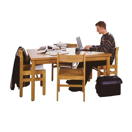 Brodart classic oak reading tables for Classic library table