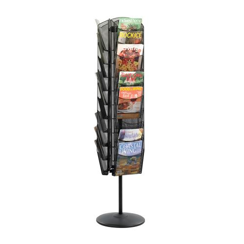 Safco Products Onyx Rotating Mesh Magazine Stand