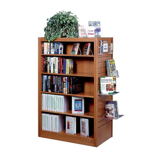 Brodart Mobile Shelving with Flat Top and Slatwall End Panels