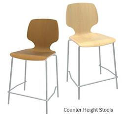 Brodart Calyx Counter Height Wood Veneer Stools