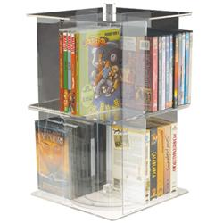 DVD/Paperback/Video Carousel Base for Rotating Stackable Displayers