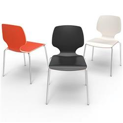 "Brodart Youth Height 16""H Calyx Poly Chairs"