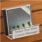 Image of Acrylic CD/DVD Slatwall Shelf with Sign Holder