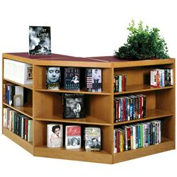 Brodart Design-Flex 90º Shelving with Solid Oak Flat Shelves