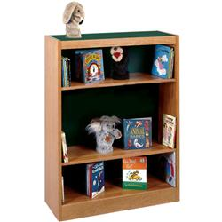 Brodart Classic Double-Faced Oak Adder Shelving with Laminate Top