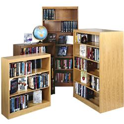 Brodart Economy Backs for Single-Faced Oak Shelving
