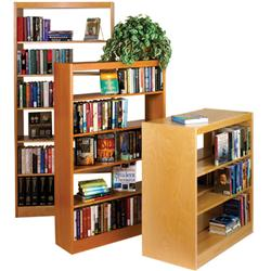 Brodart Wood Partitions for Double-Faced Solid Maple Shelving