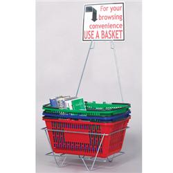 Sign for Patron Browsing Baskets