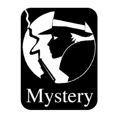 Brodart Mystery Classification Labels (500 w/Black BG)