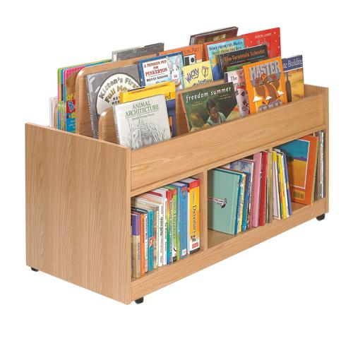 Brodart KidSpace Store-It-All Mobile Double-Sided Book Cart