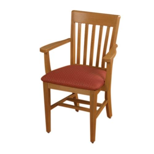 Brodart Tribute Upholstered Maple Chairs with Arms