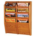 Image of Wooden Mallet 4-Magazine/8-Brochure Wall Mount Displayer