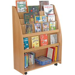 Brodart KidSpace Mobile Book Cart with Storage