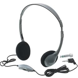 HamiltonBuhl Standard Personal-Size Foam Headphones with Volume Control